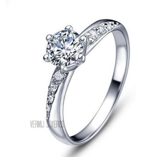 anillo compromiso oro 18k zirconias swarovski envío gratis