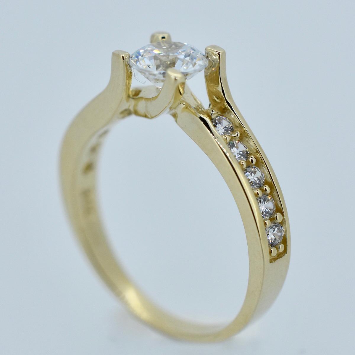 d52b333a1e1e anillo compromiso oro amarillo 14k mod.gjip45-019. Cargando zoom.