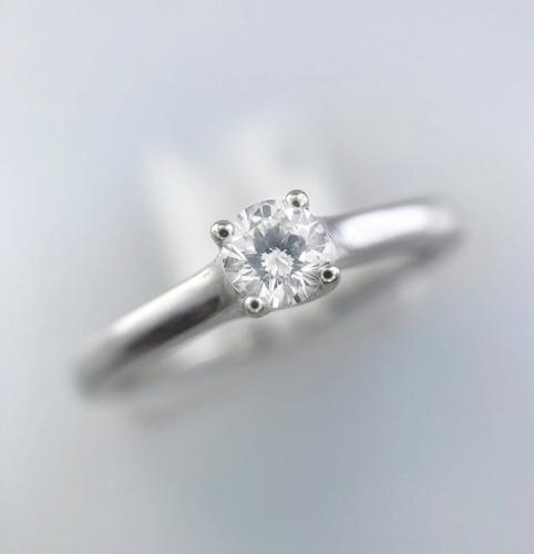 anillo compromiso oro blanco diamante brillante certificado