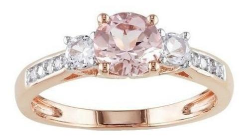 anillo compromiso oro rosa 10kt envio gratis y promoción