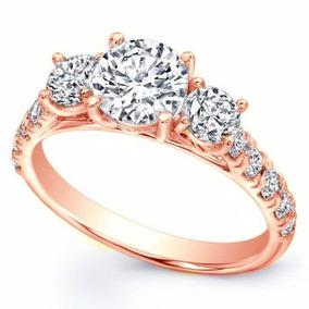 82c45dec7b5a Anillo De Compromiso Oro Blanco Diamante Ruso - Anillos en Mercado Libre  México