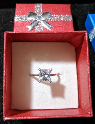 anillo compromiso plata .925
