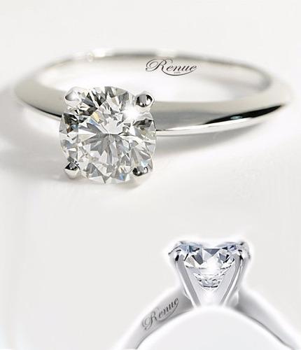 anillo compromiso: plata ley 950 y zircon, efecto oro blanco