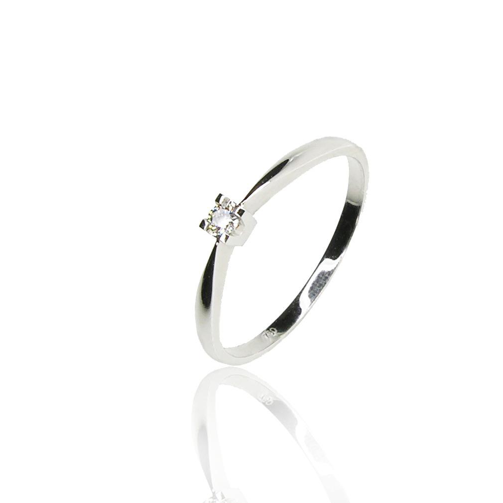 18f25c8fe93c Anillo Compromiso - Solitario Diamante Oro Blanco 18 Kts. -   34.700 ...