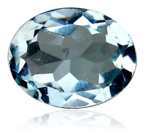 anillo con aquamarina natural de 1.73 cts. en oro de 14k