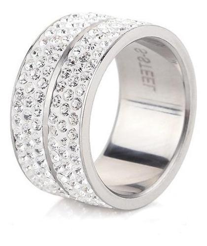 anillo con cristales, ocean heart oh14-227