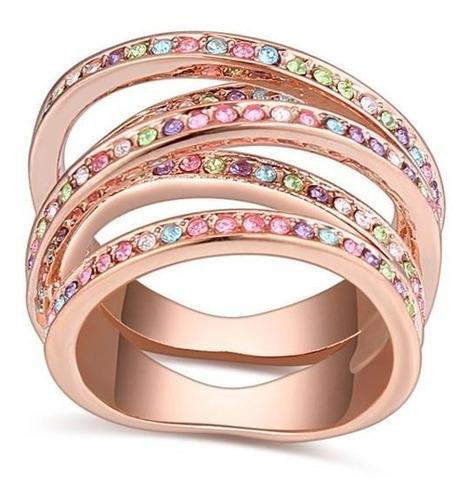 anillo con cristales, ocean heart oh15-301