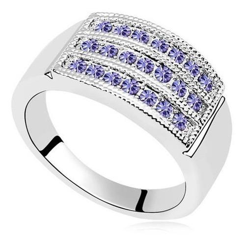 anillo con cristales, ocean heart oh15-37
