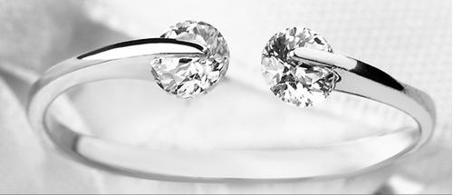 anillo con cristales swaroski en bolsa y etiquetas