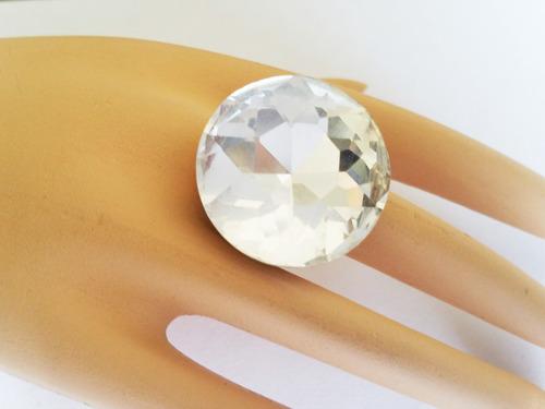anillo con crystal de 25mm crystal color