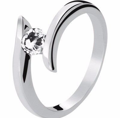 anillo con diamante cultivado de .15ct. -40%