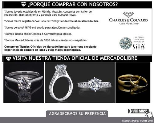 anillo con diamante cultivado de 250 pt redondo en oro 18k