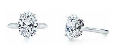 anillo con diamante cultivado oval de 150 pts en oro 18k