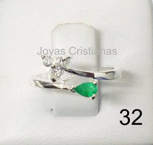 850e0d3d8866 Anillo Con Esmeralda Plata 925 Oro Compromiso Joyas Argollas ...