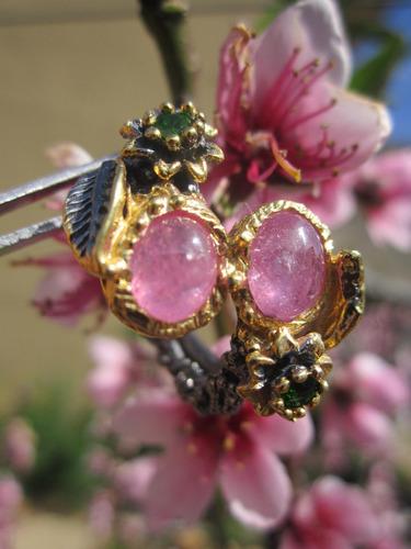 anillo con rubís en plata oro envió gratis echo a mano