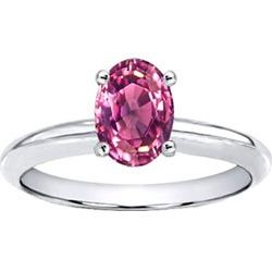 anillo con tourmalina natural rosa de .81 ct. en oro de 14k.