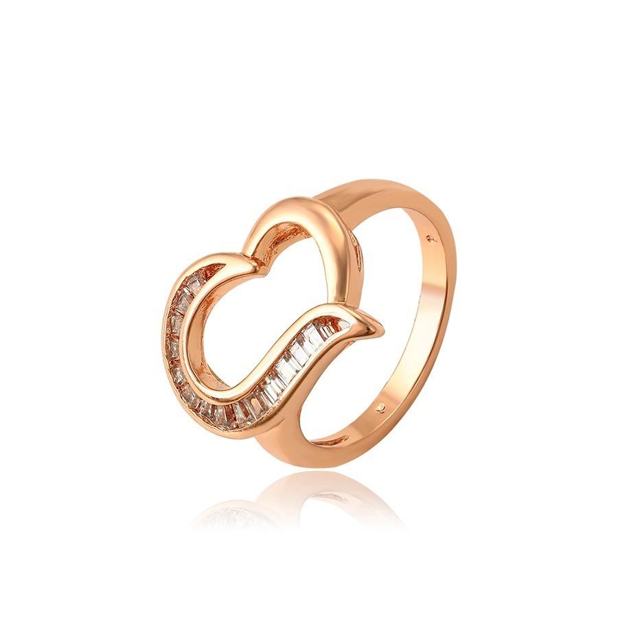 65b6893f1b3e Anillo Corazón Oro Rosa Con Zirconias Diamante -   450.00 en Mercado ...