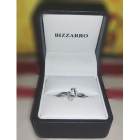Anillo Corazones Oro Blanco Diamantes Marca Bizarro