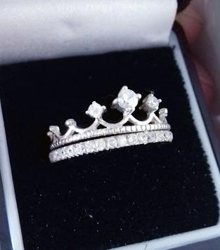 anillo corona con churumbela plata .925 reina amor pareja