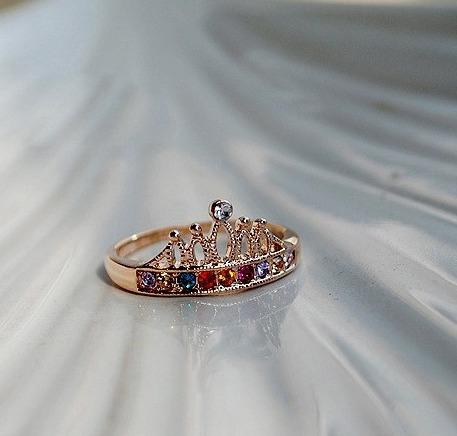 anillo corona perla moda fashion color mujer regalo look
