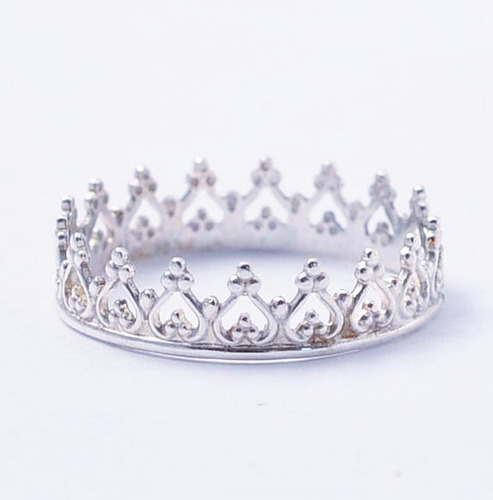 anillo corona rey reina compromiso plata .925 amor pareja