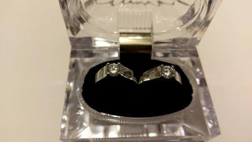 anillo cristal ajustable 2 pz. para hombre y mujer