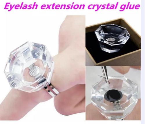 anillo cristal para extensión pestañas