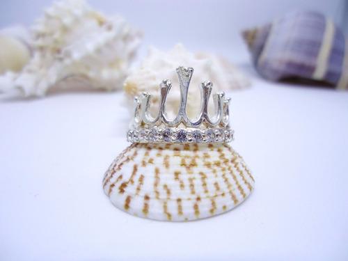 anillo cristal plata