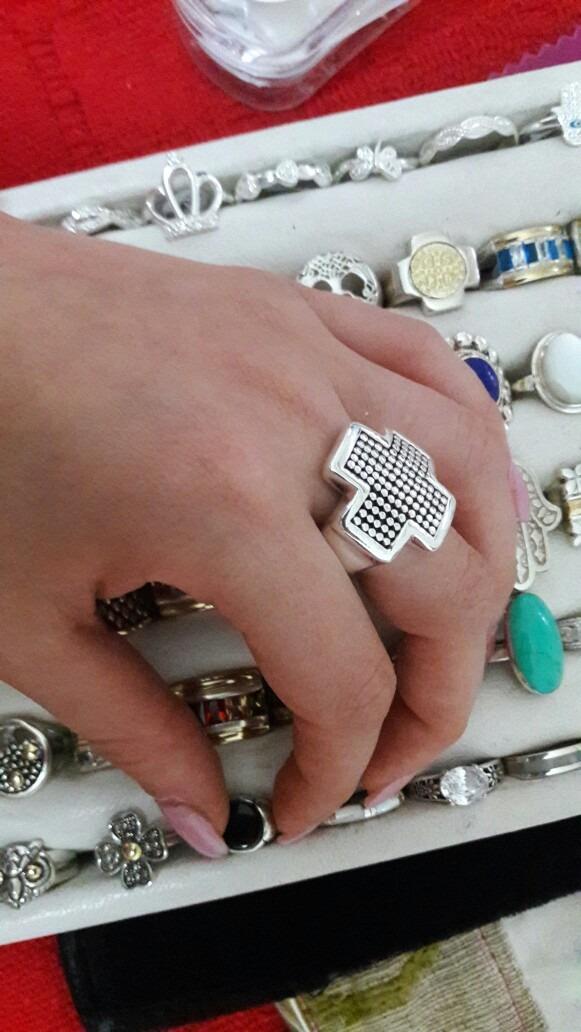 30e589beb8e8 anillo cruz del equilibrio plata inflada. Cargando zoom.
