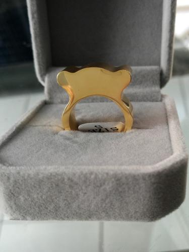 anillo cuerpo de tous oso plateado y dorado regalo novia