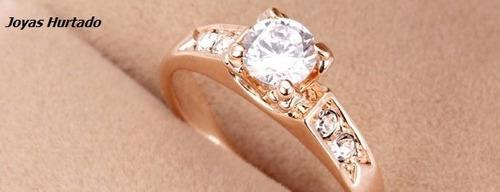 anillo d compromiso bañado en oro d 18 kl