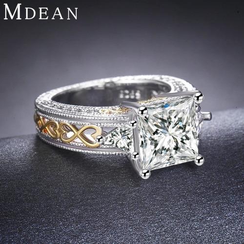 anillo dama cristal zirconia corte brillante