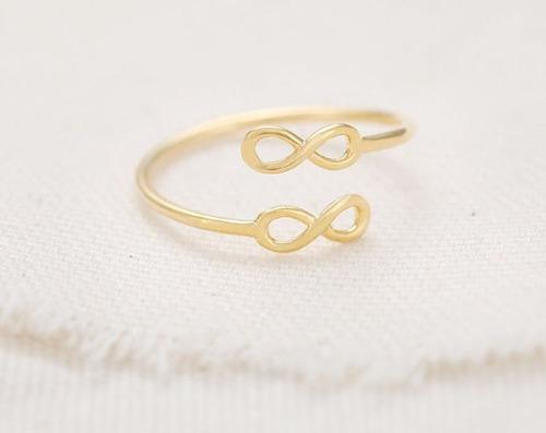 anillo dama infinito oro amarillo 14 kt ad053