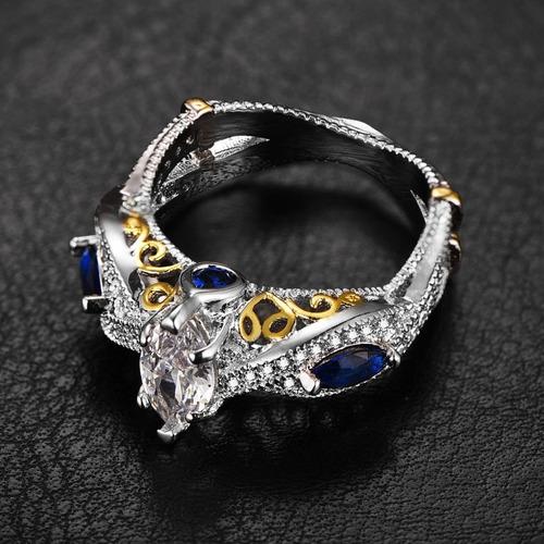 anillo dama zirconias