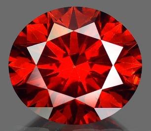 anillo de 14k con diamante natural rojo de .10 cts.