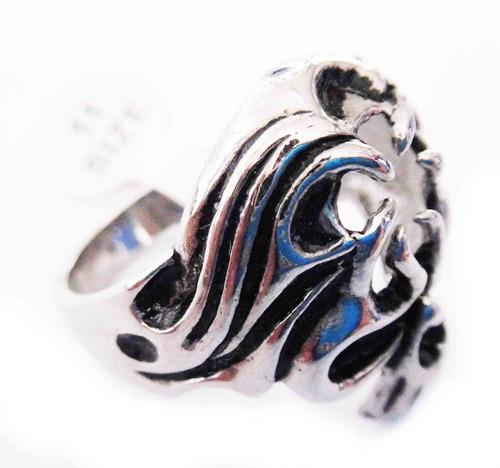 anillo de acero de calavera turbante skpalace