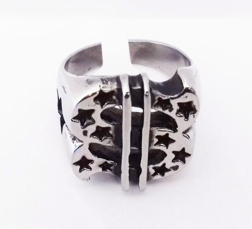 anillo de acero de símbolo de dolares skpalace excelente