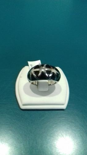 anillo de acero esmaltado en negro