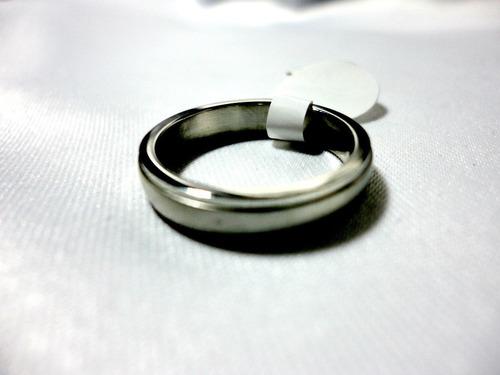 anillo  de acero inox.