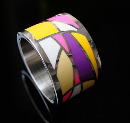 anillo de acero quirúrgico n19 de original diseño con bolsa