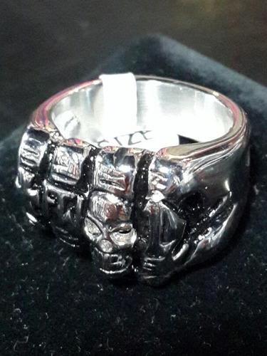 anillo de acero quirurgico puño rocker metalero