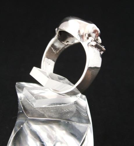 anillo de calavera en plata ley 0.925 vv4