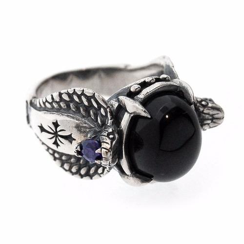 anillo de cobras. plata .925