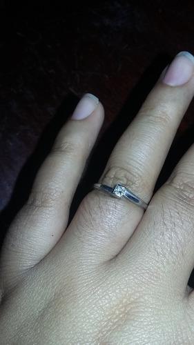 anillo de compromiso 14k italia diamante corte princesa