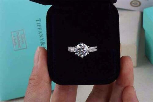 anillo de compromiso 2 kilates !!! plata 925 aniversario