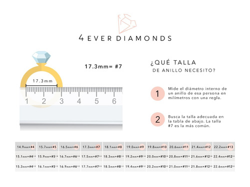 anillo de compromiso 4everdiamonds  oro y diamantes .75ct