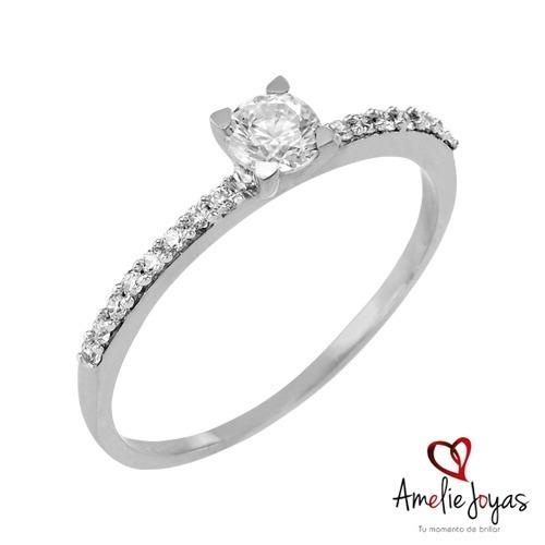 cd5b5be59e6a Anillo De Compromiso Amelie Joyas Diamante Natural 29 Puntos ...