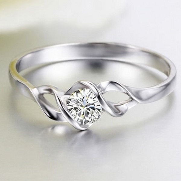 Anillo de compromiso amor infinito oro blanco de 10 k for Precio rodiar anillo oro blanco