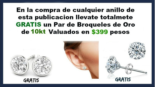 anillo de compromiso argentium sterling silver y zwarovski