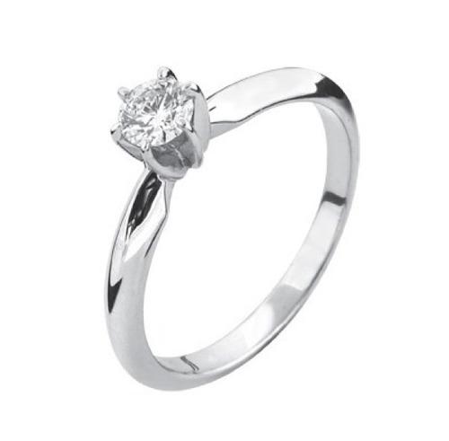 anillo de compromiso con diamante cultivado de 25 puntos
